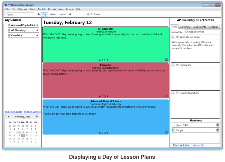 Planbook for windows elegant lesson planning software for for Free planbook